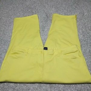 Basic Edition, 22W, yellow, crop pants.